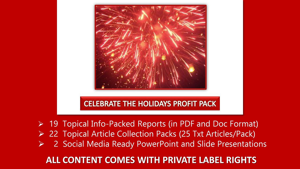Celebrate the Holidays Private Label Profit Pack