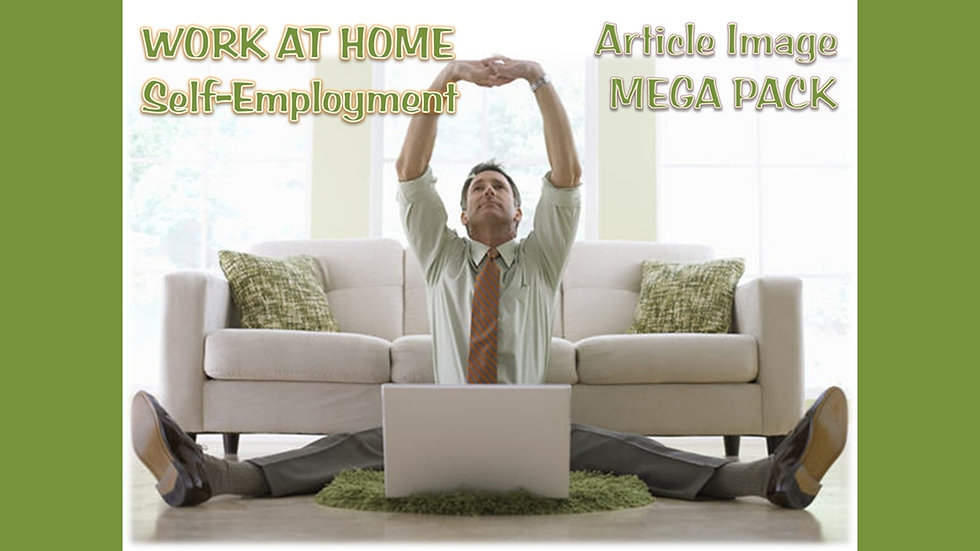 Self Employment/WAH Article and Image MEGA Pack