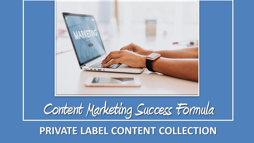Content Marketing Success Formula PLR Pack