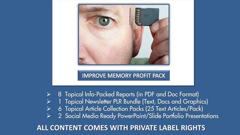 Improve Memory Private Label Profit Pack