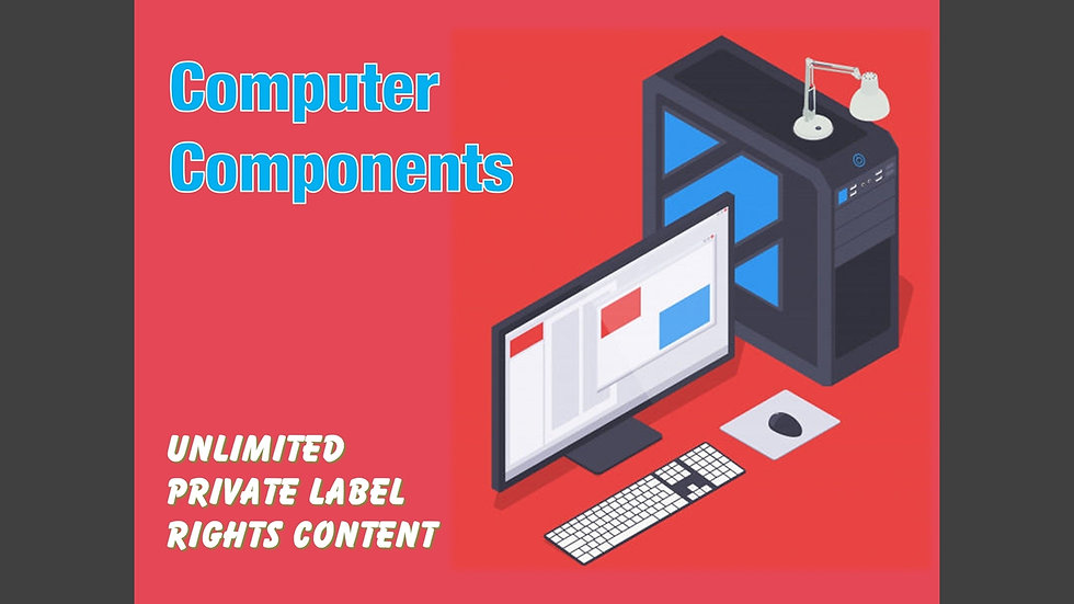 Computer Components Private Label Content Pack