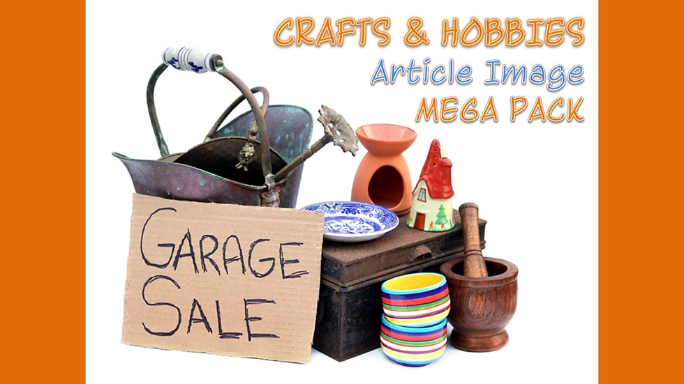 Crafts and Hobbies PLR Article and Image MEGA Pack