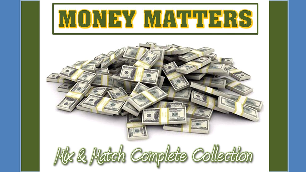 Money Matters Mix and Match COMPLETE Collection