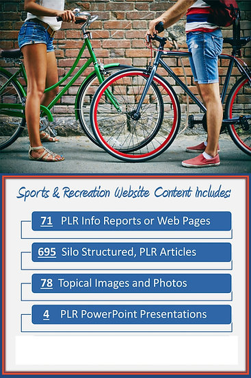 Sports and Recreation Turnkey Content Sites