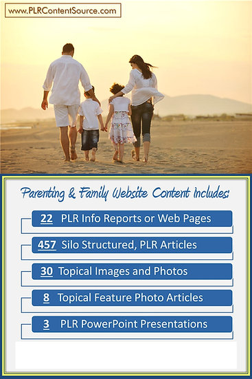 Parenting and Family Turnkey Content Sites