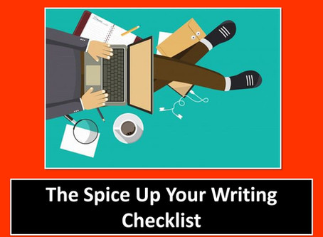 """Spice Up Your Writing"" Checklist"