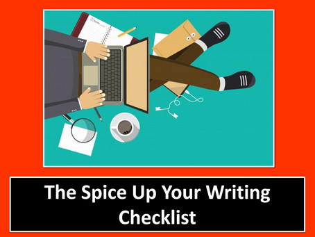 """""""Spice Up Your Writing"""" Checklist"""