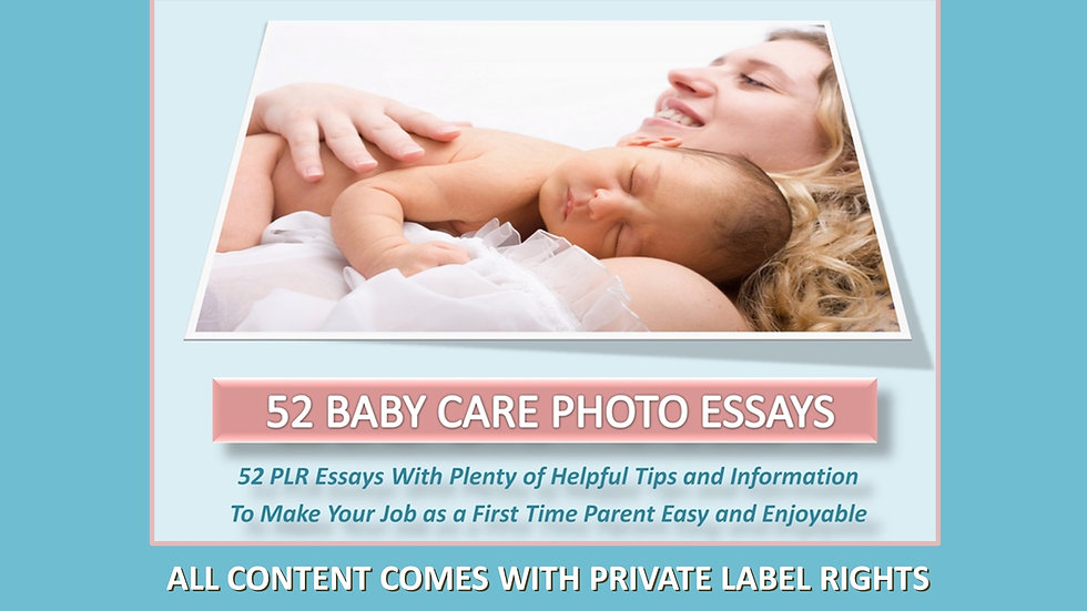 Baby Care PLR Photo Essay Series