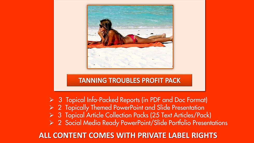 Tanning Troubles Private Label Profit Pack