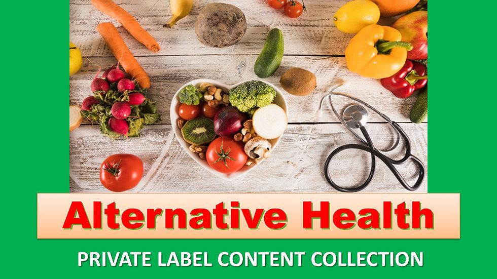 Alternative Health PLR Product Pack