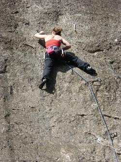 rock climbing
