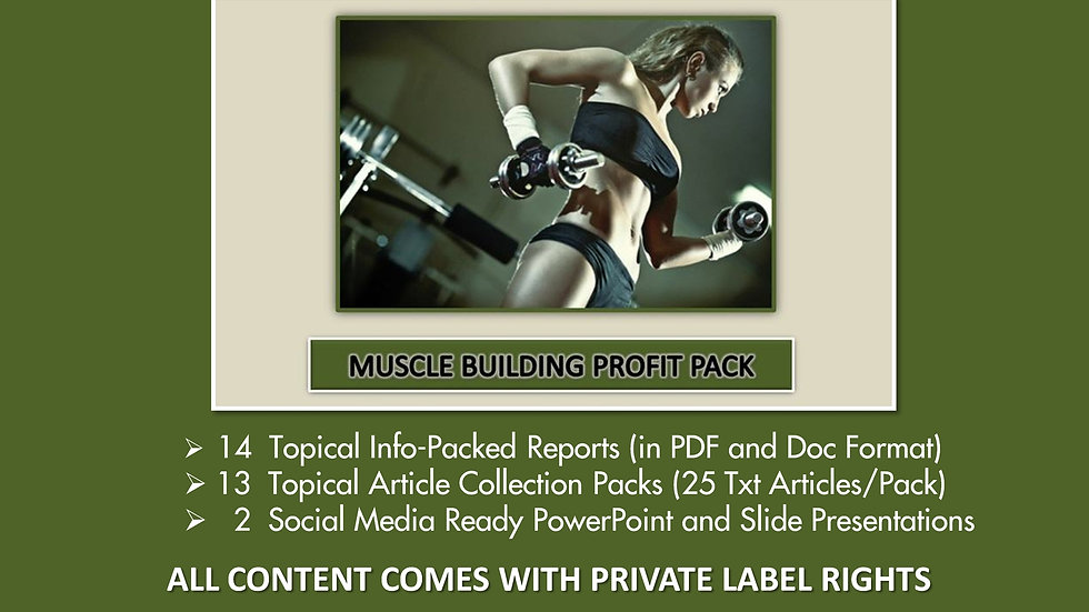 Muscle Building Private Label Profit Pack