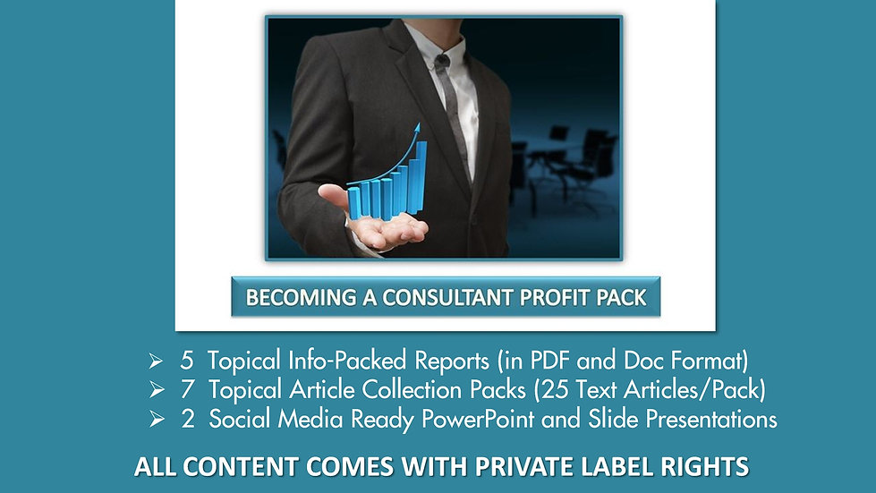 Becoming A Consultant Private Label Profit Pack