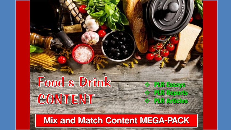 Food and Drink Mix and Match CONTENT Collection