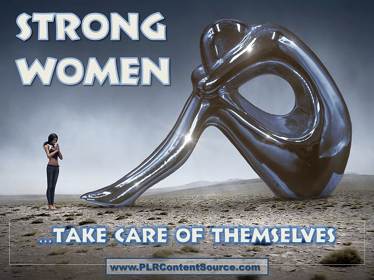 Strong Women Take Care of Themselves Video Art Quote Collection