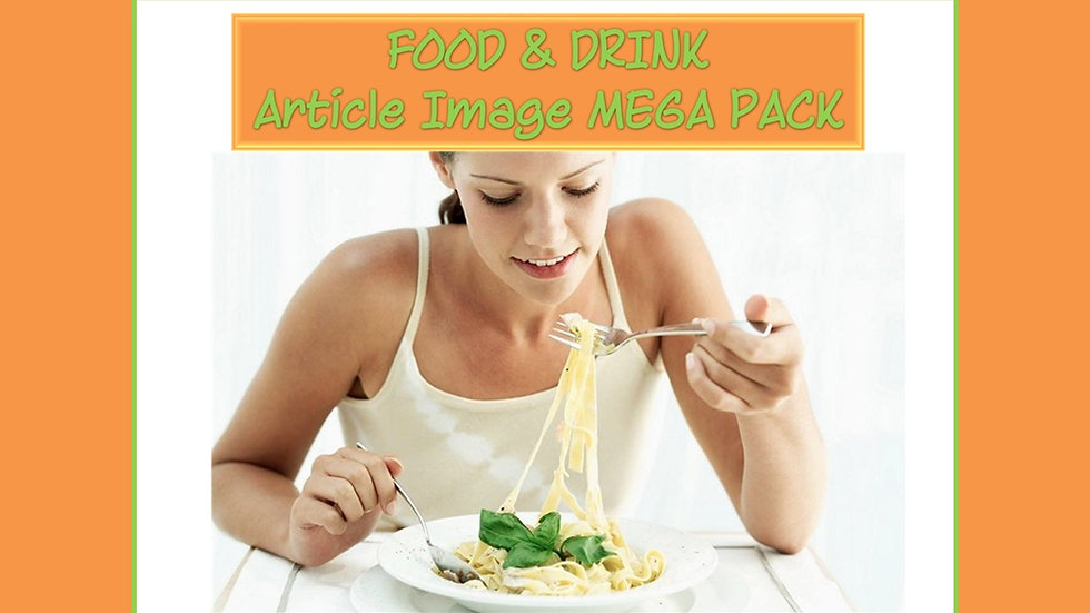 Food and Drink PLR Article and Image MEGA Pack
