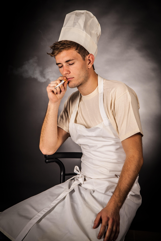 chef smoking