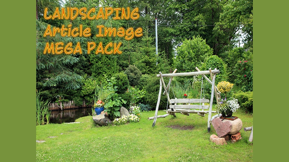 Landscaping PLR Article and Image MEGA Pack