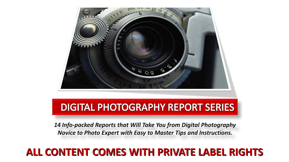 Digital Photography Expert Report Series