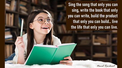 Sing The Song That Only You Can Sing