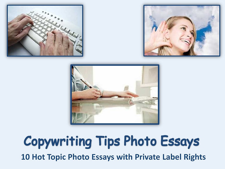 10 PLR Copywriting Tips Photo Essays