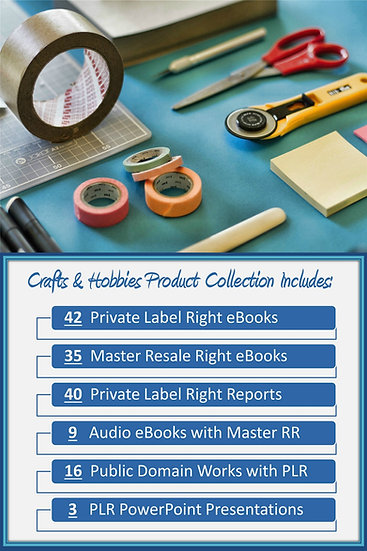 Crafts and Hobbies Product Profit Packs