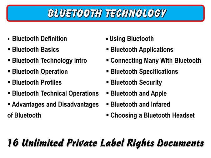 Bluetooth Technology PLR Content
