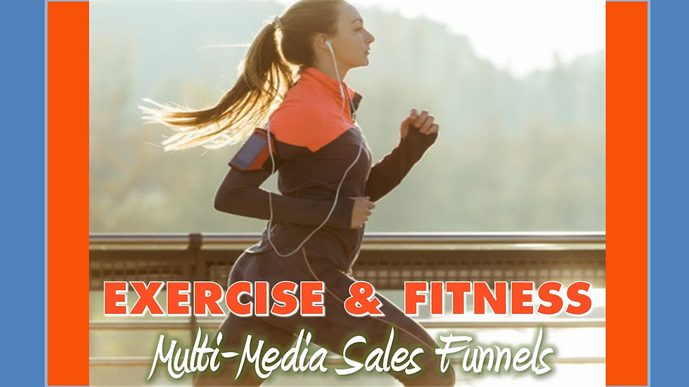 Exercise and Fitness Mix and Match Multimedia Sales Funnels