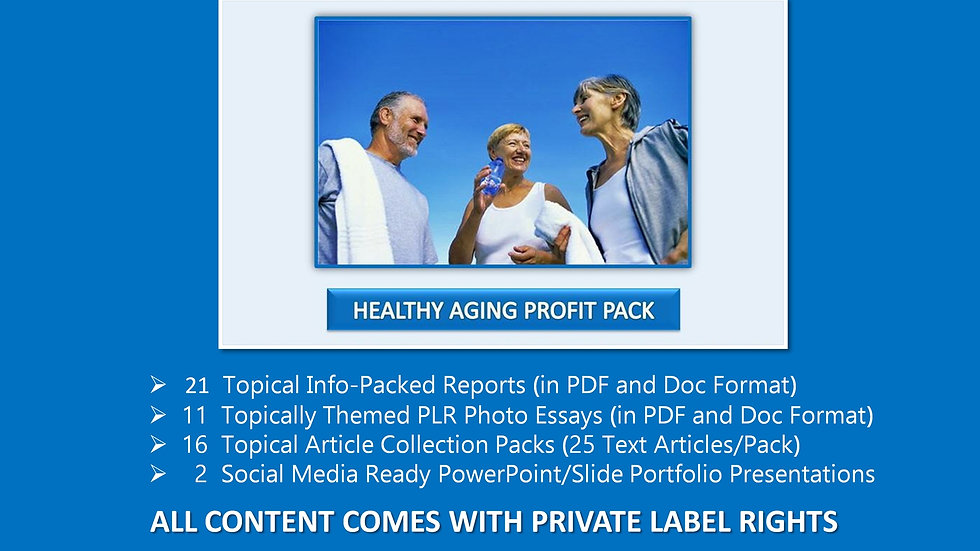 Healthy Aging Private Label Profit Pack