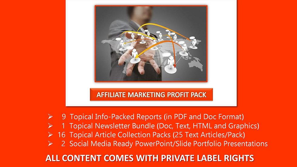 Affiliate Marketing Private Label Profit Pack