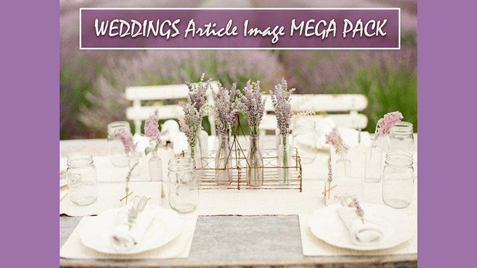 Weddings PLR Article and Image MEGA Pack