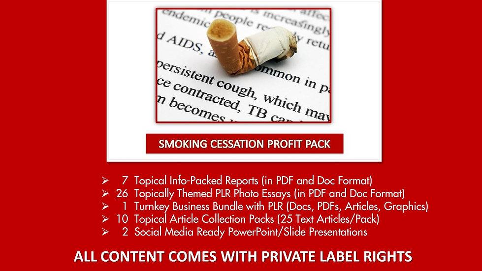 Smoking Cessation Private Label Profit Pack
