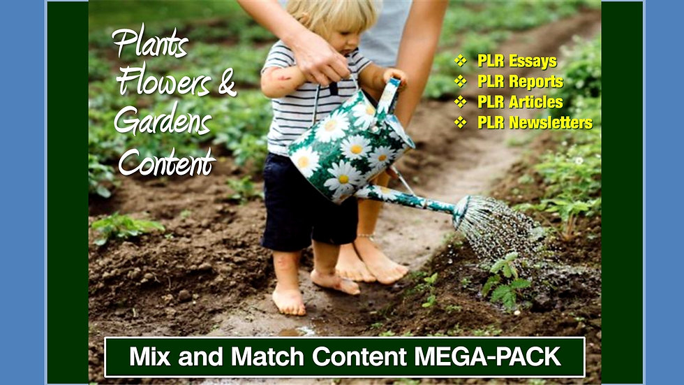 Plants, Flowers and Gardens Mix and Match CONTENT Collection