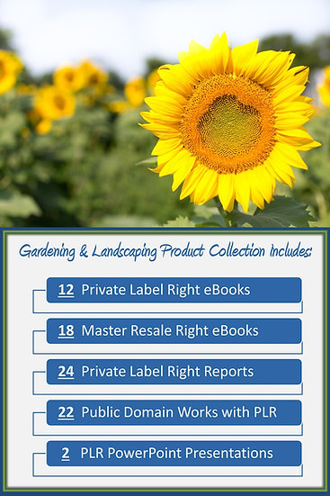 Gardening and Landscaping Product Profit Packs