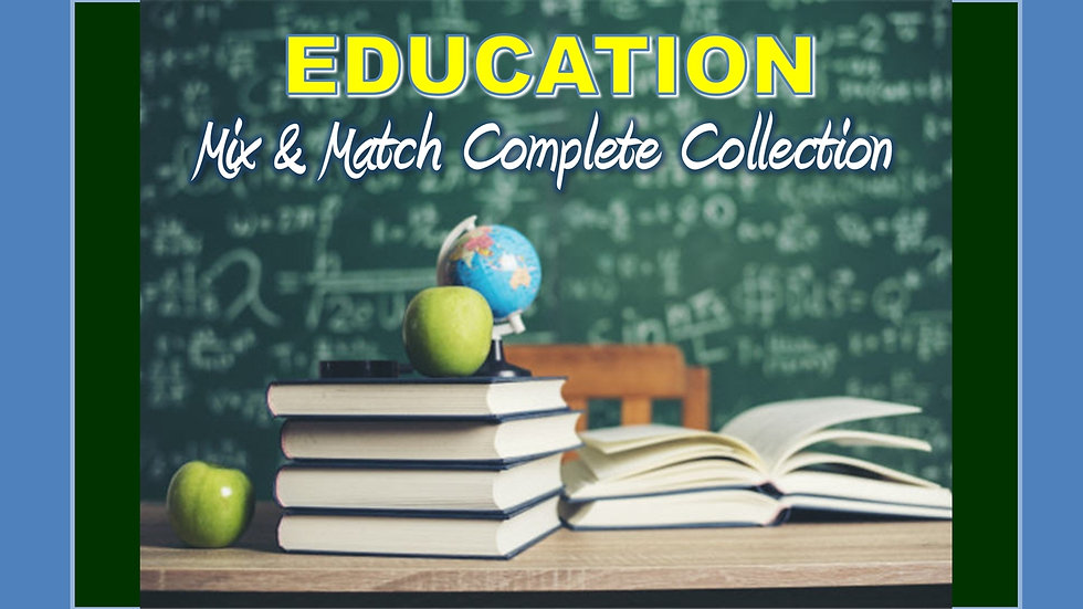 Education and Memory Mix and Match COMPLETE Collection