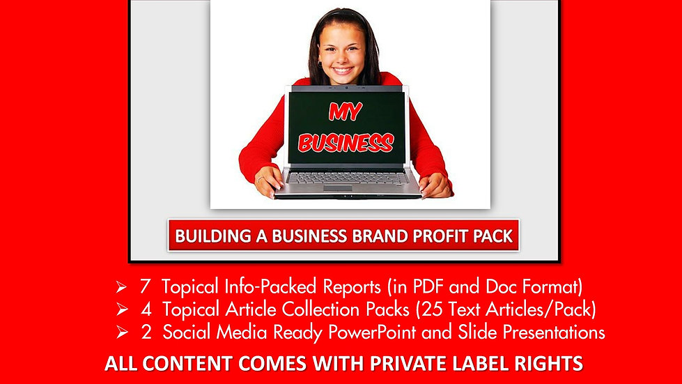 Building A Business Brand Private Label Profit Pack