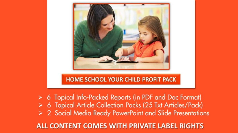 Homeschooling Your Child Private Label Profit Pack