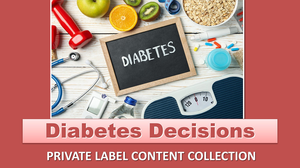 Diabetes Decisions PLR Product Pack