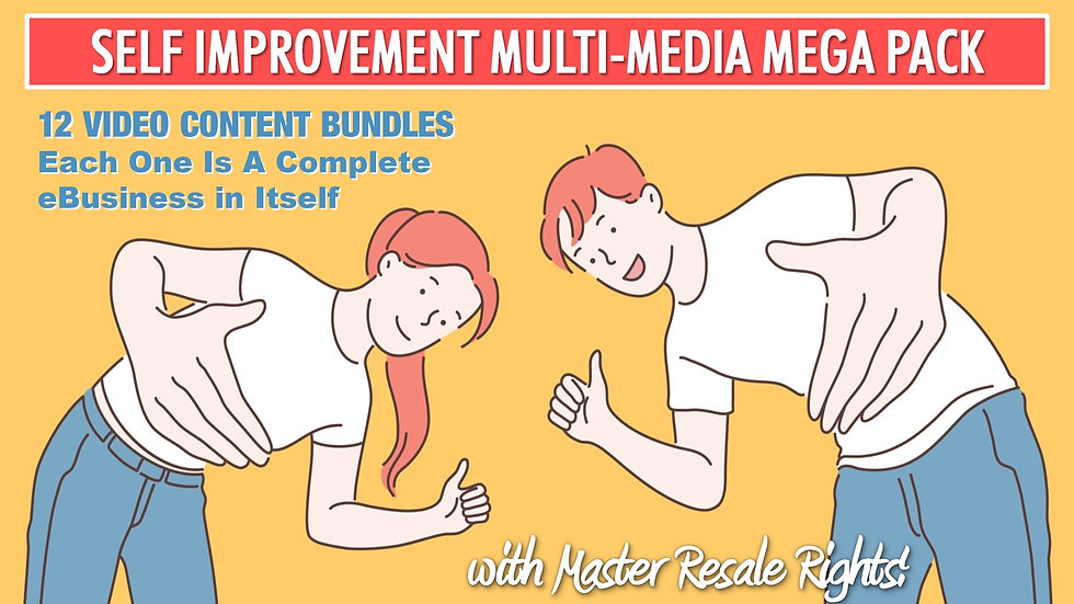 Self Improvement Multi-Media MEGA Pack