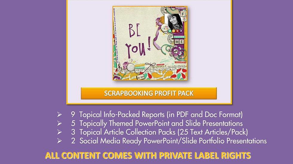 Scrapbooking Private Label Profit Pack