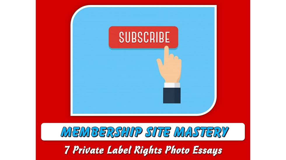 Membership Mastery Private Label Content Pack