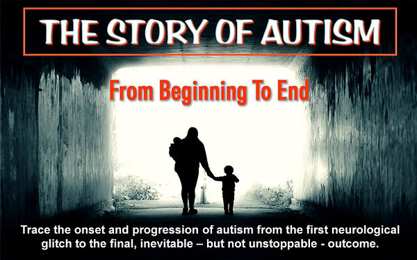 The Story of Autism from the first neurological glitch to the final outcome.