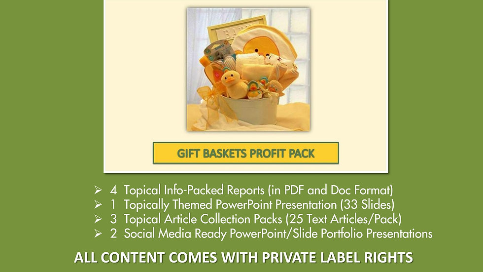 Gift Baskets Private Label Profit Pack