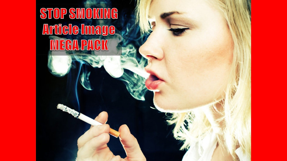 Stop Smoking PLR Article and Image MEGA Pack