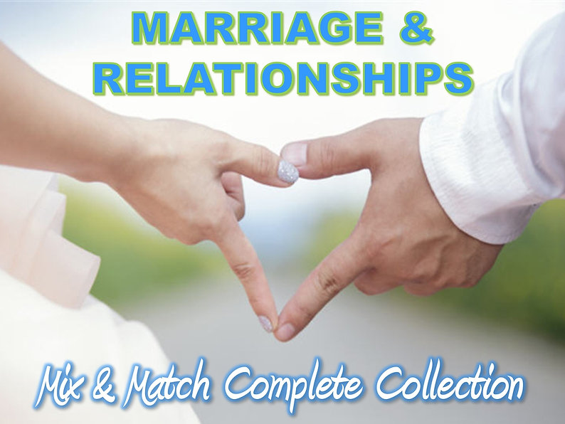 Marriage and Relationships PLR Content Collection