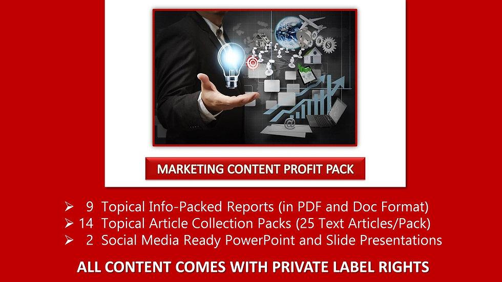Marketing Content Private Label Profit Pack