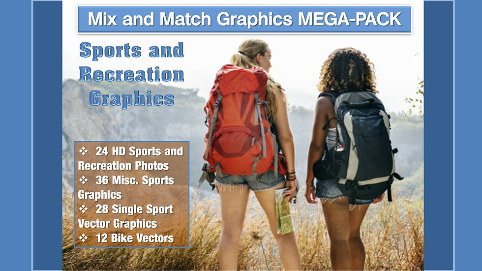 Sports and Recreation Mix and Match GRAPHICS Collection