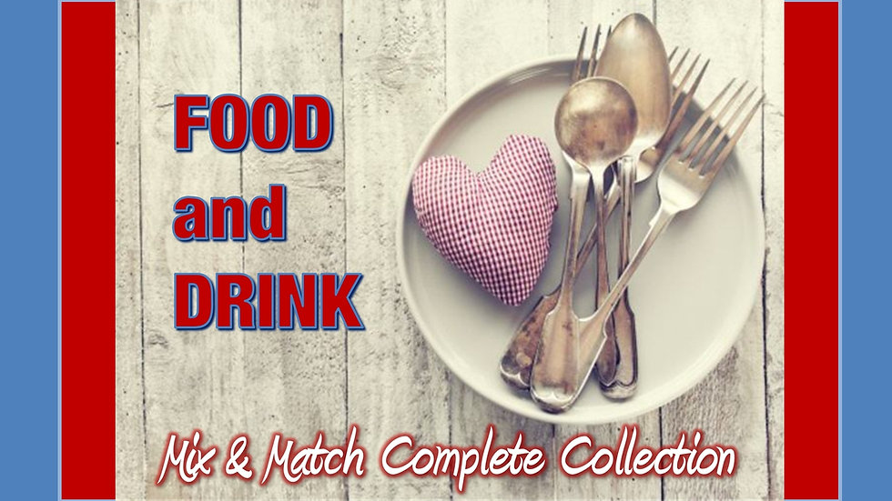 Food and Drink Mix and Match COMPLETE Collection