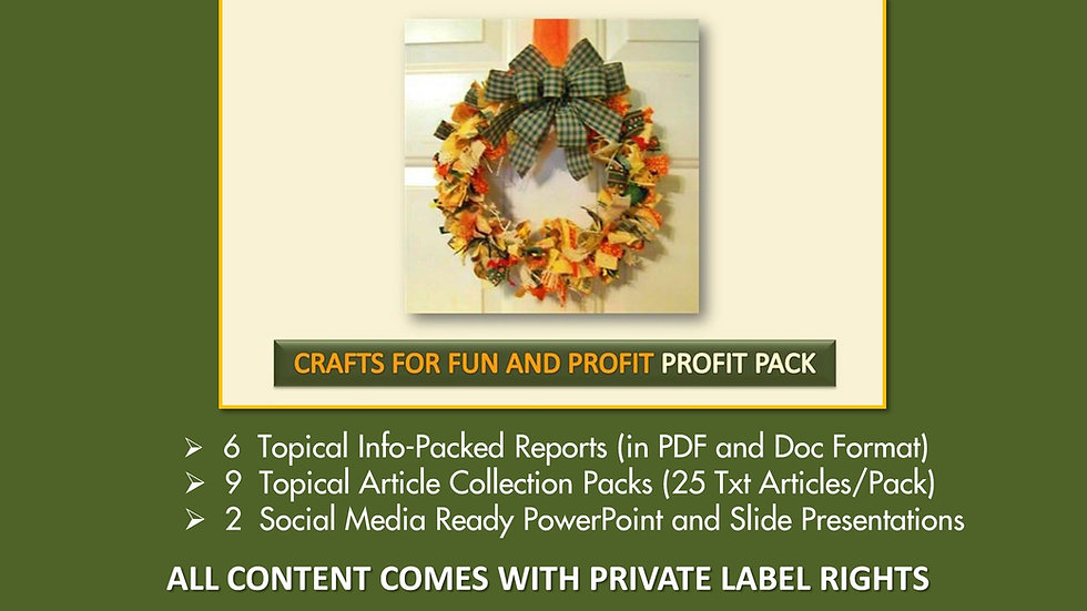 Crafts For Fun and Profit Private Label Profit Pack