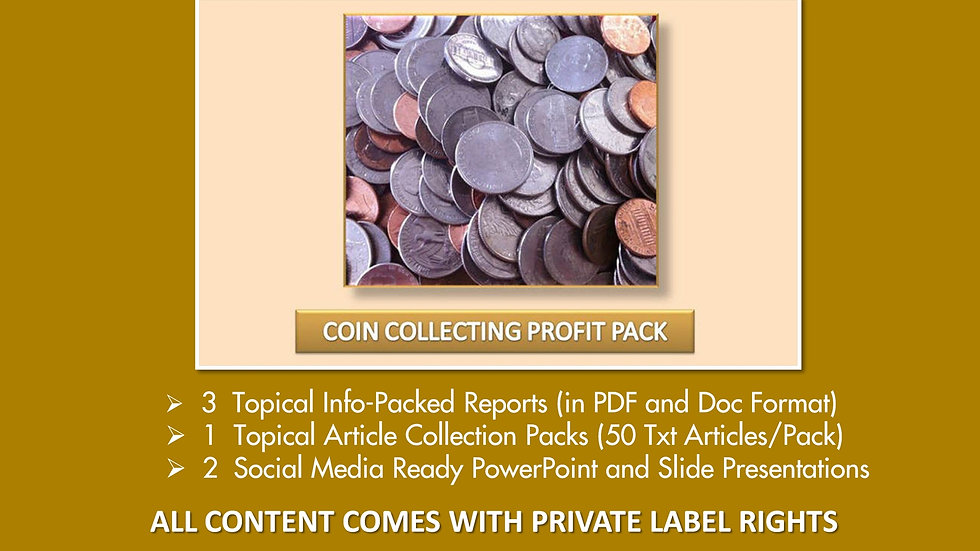 Coin Collecting Private Label Profit Pack